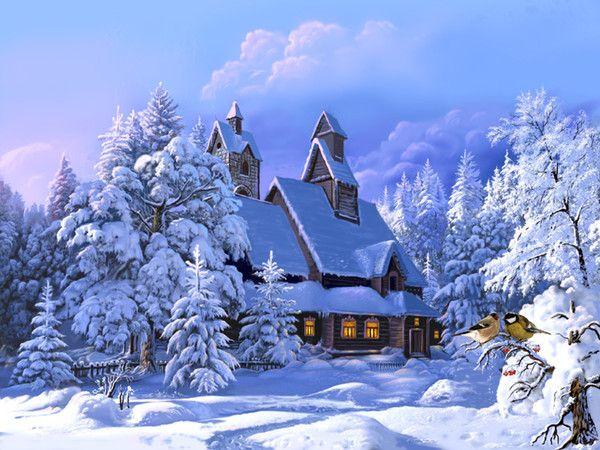no l toil et paysages d 39 hiver belle maison sous la neige. Black Bedroom Furniture Sets. Home Design Ideas