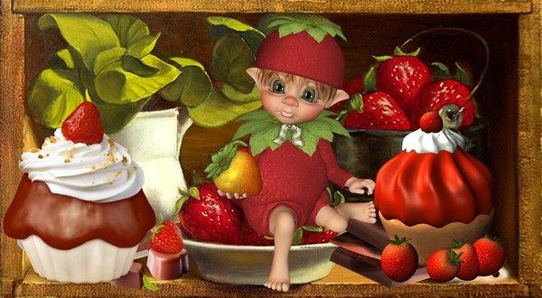 Fantaisie lutin fraises