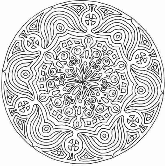 Mandalas page 11 - Coloriage complique ...